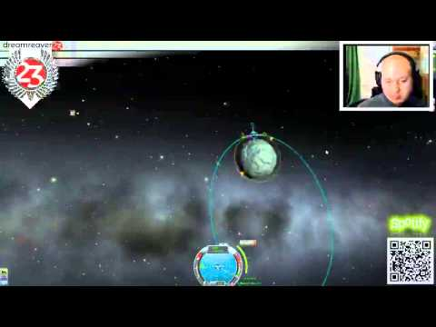 Kerbal Satellite Launch and Return to Base live from twitch