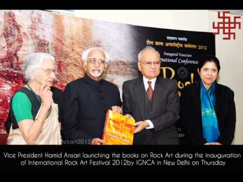 Vice President Hamid Ansari at the inauguration of International Rock Art Festival
