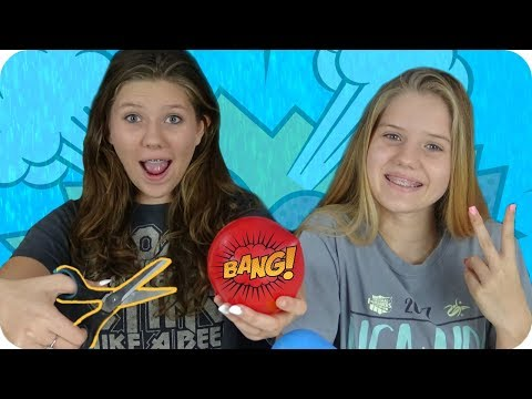 SLIME WARS BALLOON POP CHALLENGE || SLIME BALLOON TUTORIAL || *** FAIL *** || Taylor and Vanessa