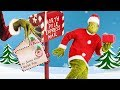 Letters to Santa featuring The Grinch pretend play holiday skit for kids