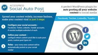 How to Auto Publish Wordpress Posts to Facebook, Twitter, Google+, LinkedIn, Tumblr