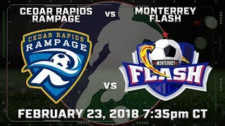 Cedar Rapids Rampage vs Monterrey Flash