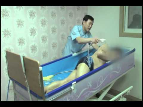 Shower Trolley A Bed With Bathtub YouTube