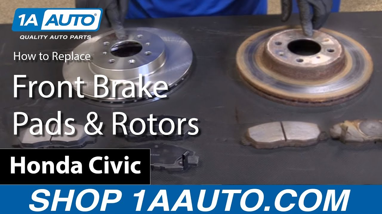 How To Replace Front Brake Pads And Rotors 01 05 Honda Civic Youtube 2005 Schematics