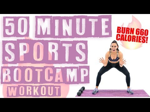 50 Minute Sports Boot Camp Workout ��Burn 660 Calories! ��