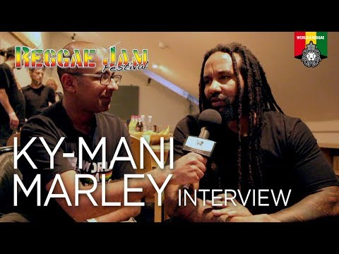 Interview Ky-mani Marley at Reggae Jam 2017