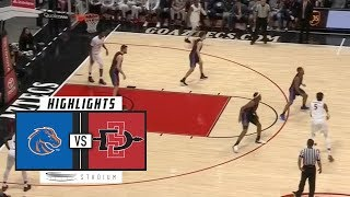 Boise State vs. San Diego State Basketball Highlights (2018-19) | Stadium