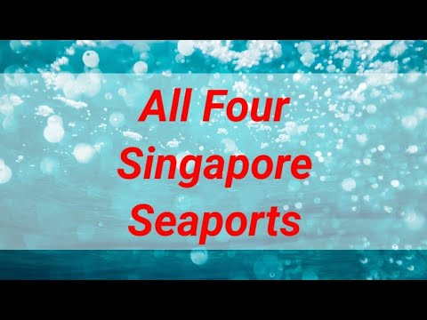 All Four Singapore Sea Ports, made them the second biggest port in the world #singaporecontainerport
