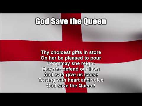 National Anthem of England - God Save the Queen (Nightcore Style With Lyrics)