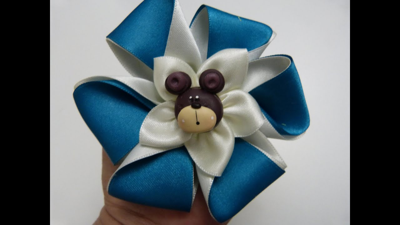 Lazos dobles en cinta de raso t hair bow tutorial how to make ties youtube - Lazos con cintas ...