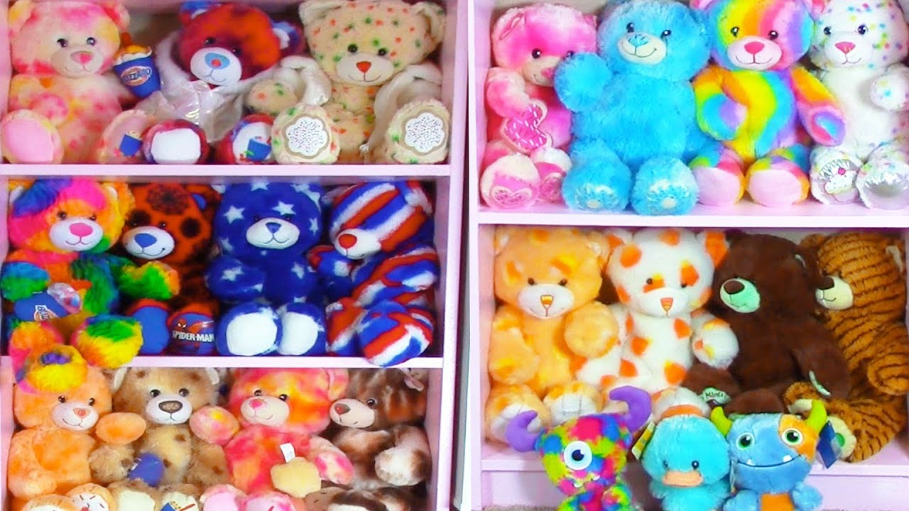 Build A Bear Collection Plush Stuffed Animals Room Tour Haul   Cookieswirlc  Video   YouTube