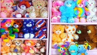 My Build A Bear Collection Plush Stuffed Animals Room Tour Haul