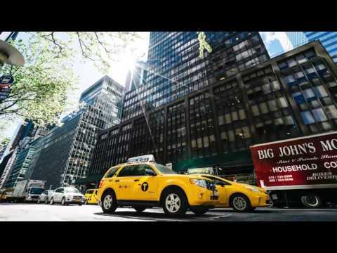 4k New York City Time Lapse Screen Saver Yule Log (30 Minutes)