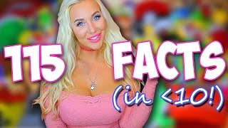 115 FACTS ABOUT ME (in less than 10 minutes!)