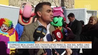 Dos chocolates por el Día del Niño: Uno para trabajadores municipales y otro para vecinos