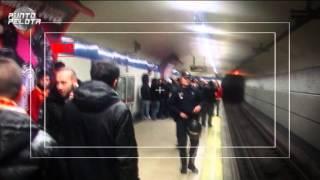 Así llegaron los ultras del Galatasaray al Bernabéu