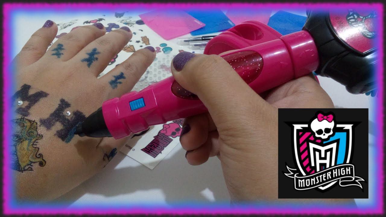 Tattoo Maker Toy Machine- Mattel Monster High with Stencil and ...