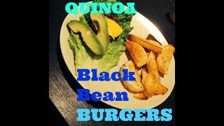 Sweet Potato Quinoa Black Bean Burgers!