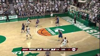 NCAA Basketball 10 (PS3) Gonzaga vs. Michigan State ESPN