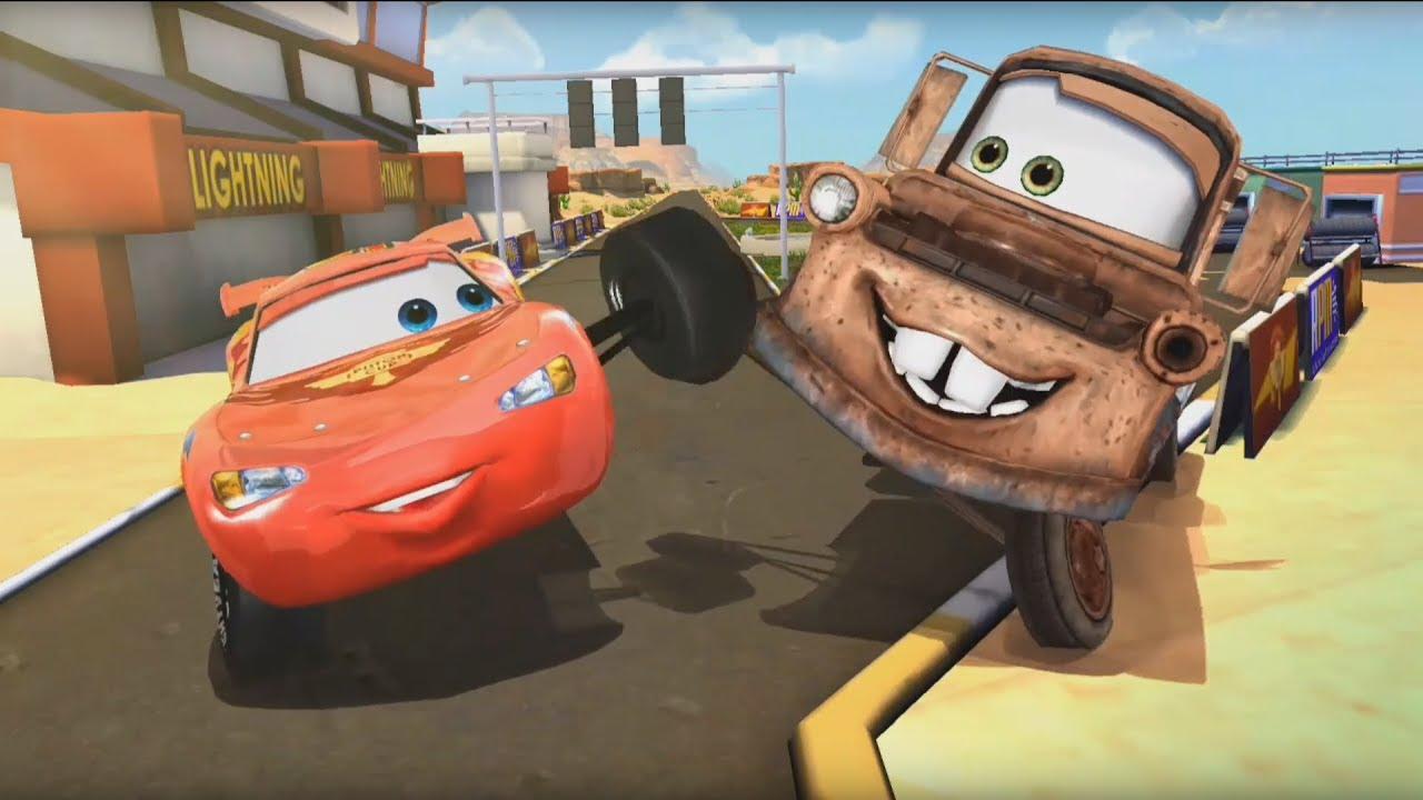 Disney Cars Fast as Lightning by Disney LOL #1 Lightning McQueen vs Mater, Games for kids - YouTube