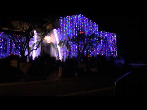 Christmas Lights Dancing To Orchestra Music 2010  Nellie Gail Ranch Contest Winner