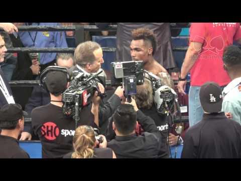 Fans boo thru  interview [Jermall Charlo]