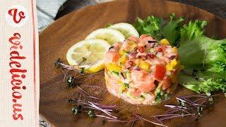 おもてなし料理にぴったり♪ハワイのさっぱり冷たい前菜「ロミロミサーモン」|How to make Lomi Lomi Salmon thumbnail