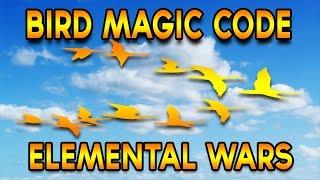 Roblox: Elemental Wars | Bird Code Magic