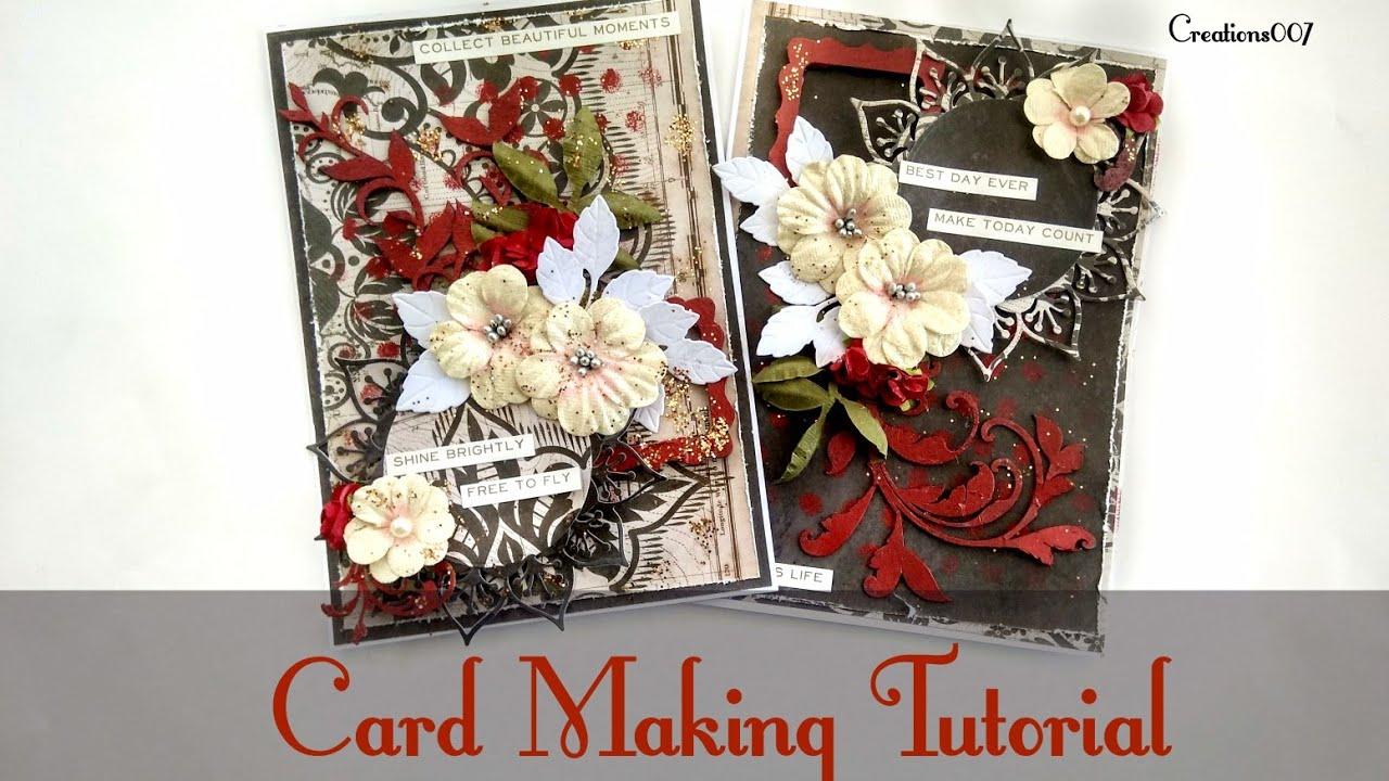 Beginners Cardmaking Tutorial   Handmade Cards making ...