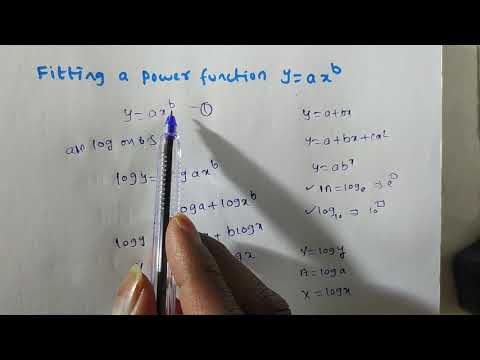 Curve Fitting Of Y= Ax^(b)/ Fitting A Power Function Y= Ax^(b) By Method Of Least Squares