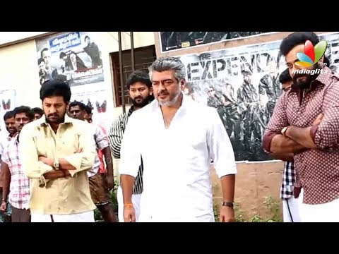 Thala Ajith Veshti Dance | Veeram Tamil Movie Making Video | Shooting ...