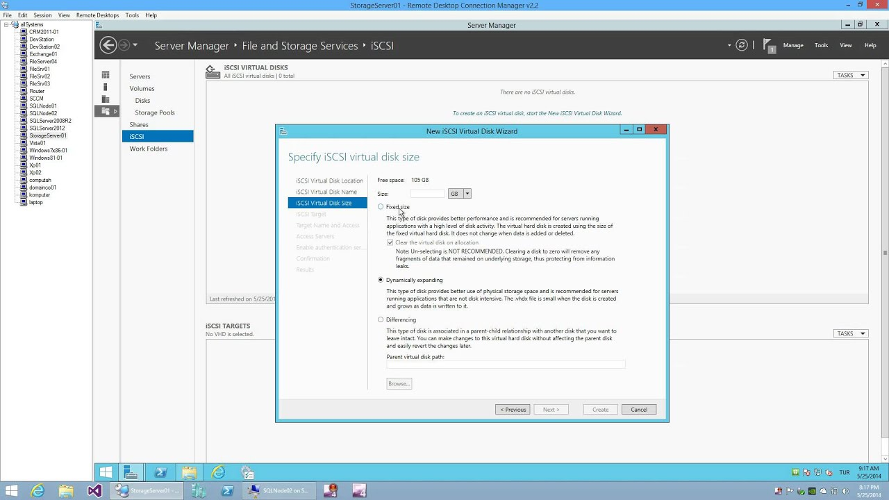 iSCSI Virtual Disks with Windows Server 2012 R2