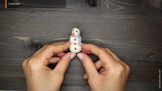 """Сухое валяние игрушек - видеоурок """"Снеговик"""""""
