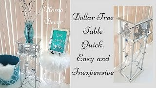 Diy Tall Dollar Tree Mirror Side Table| Easy, Quick and Inexpensive Fall Home Decorating idea!