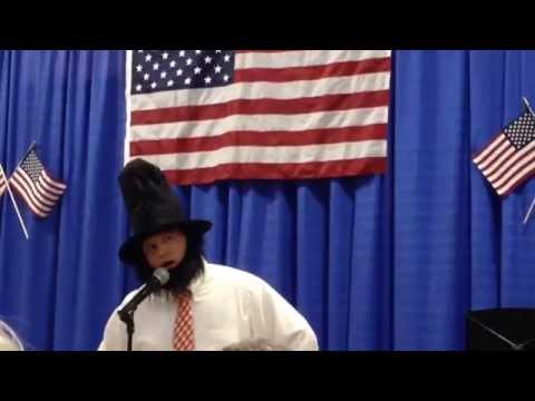 Mark Hayward recites the Gettysburg Address at the Westmoreland School Memorial Day concert