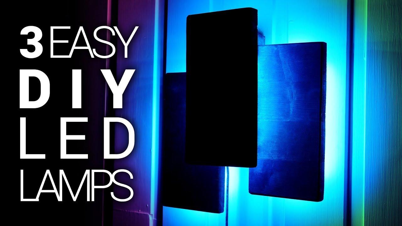 3 DIY Modern LED Lamps Under 10$