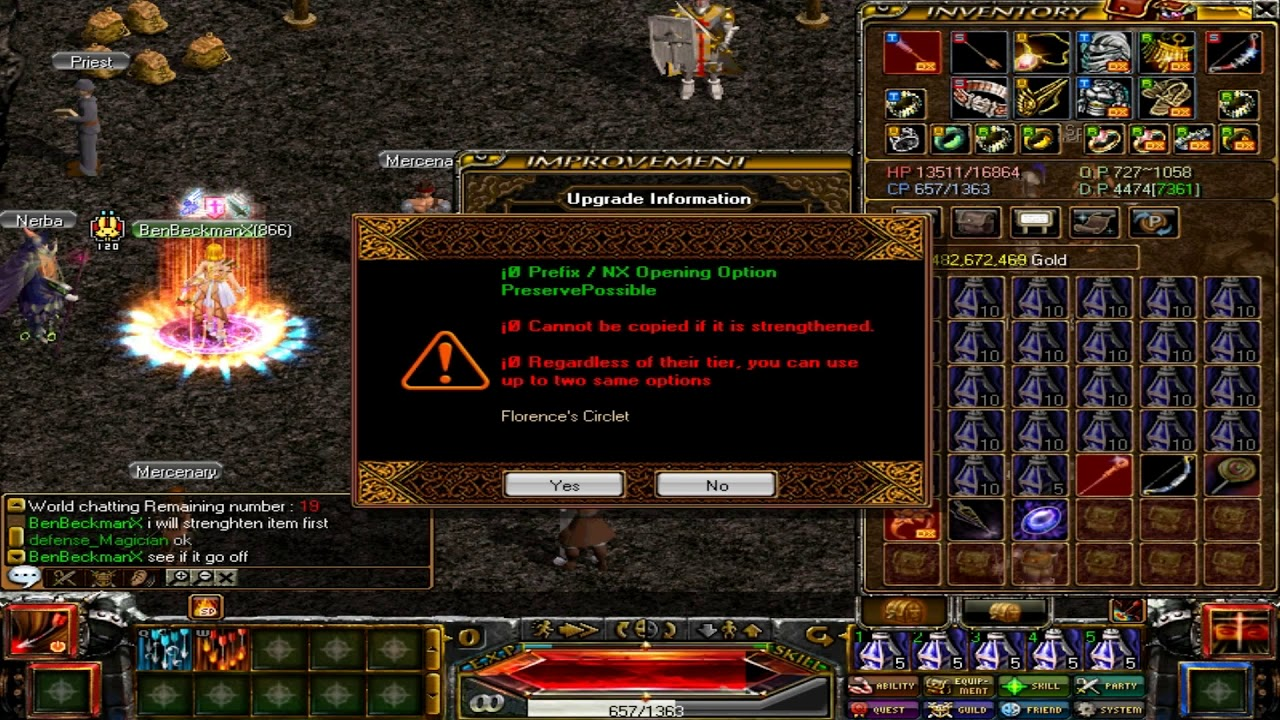 redstone bf enchanting getting pot recovery strengthening