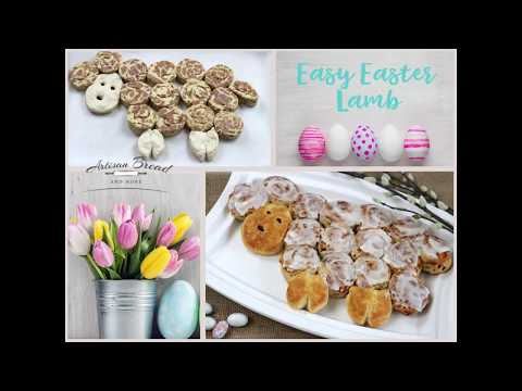 No Mess, Super Easy Easter Lamb Recipe For Kids. Coll Little Easter Project For Children.