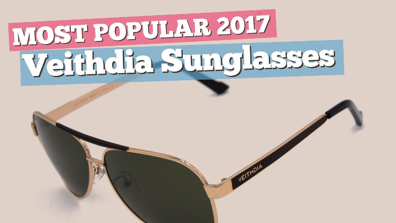 cb405947f6 Veithdia Sunglasses Collection    Most Popular 2017 - YouTube