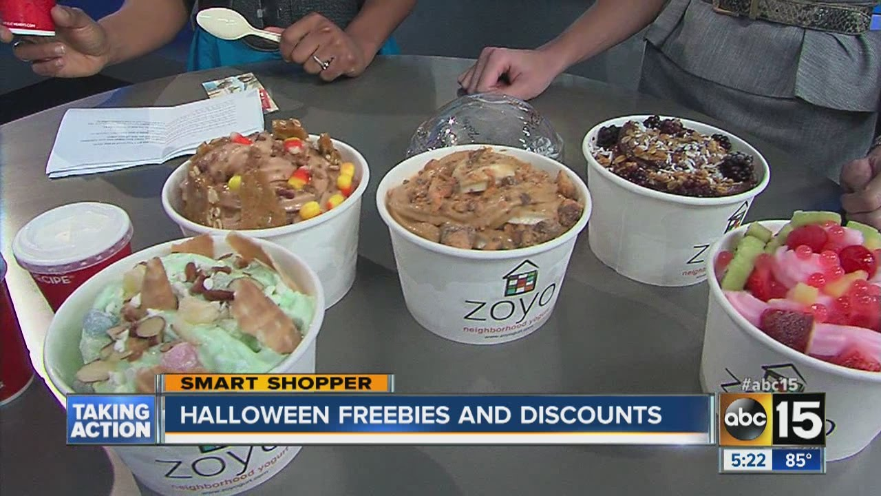 halloween freebies and discounts - youtube