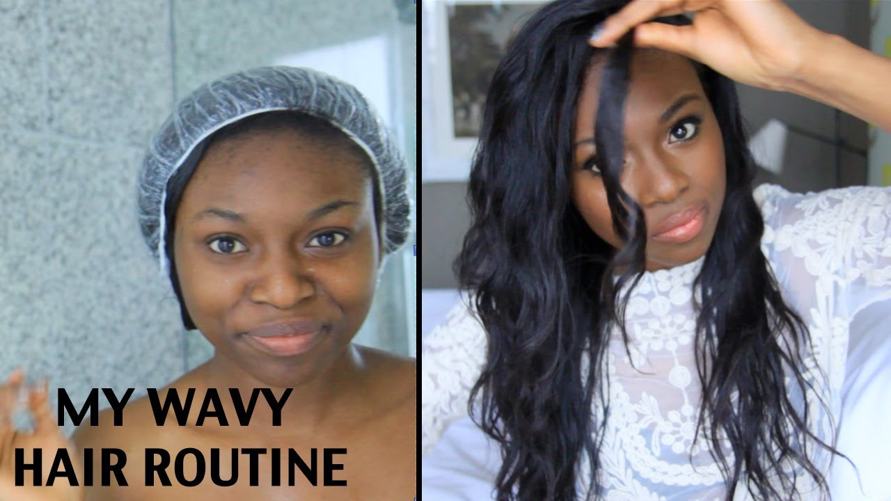 How I Maintain My Wavy Hair Extensions Youtube