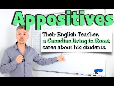 What are APPOSITIVES ? (GREAT lesson on a point GRAMMAR books don