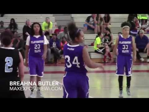 Breahna Butler WI Playground Elite Spring AAU Highlights | 2017 Milwaukee School Of Languages 5'9