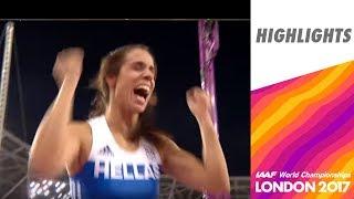 WCH London 2017 Highlights - Pole vault - Women - Final - Stefanidi wins gold