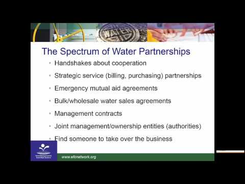 WEBINAR: Identifying and Overcoming Challenges to Successful Water Utility Partnerships