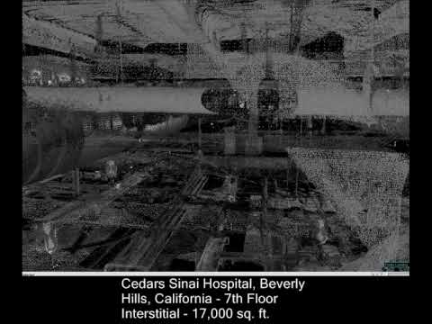 3D Laser Scan of 7th Floor Interstitial @ Cedars Sinai Hospital in Beverly Hills, California