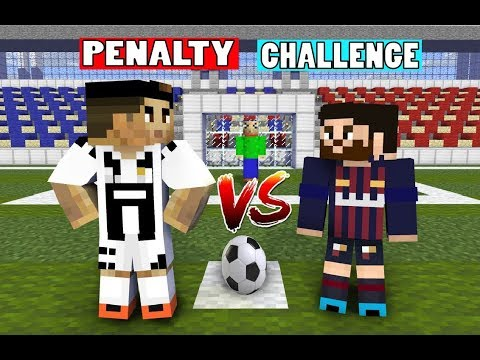 Monster School : Penalty Shoots with CRISTIANO RONALDO, LEO MESSI, BALDI'S - Minecraft Animation