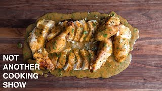 ROASTED CHICKEN WITH EASY PAN GRAVY