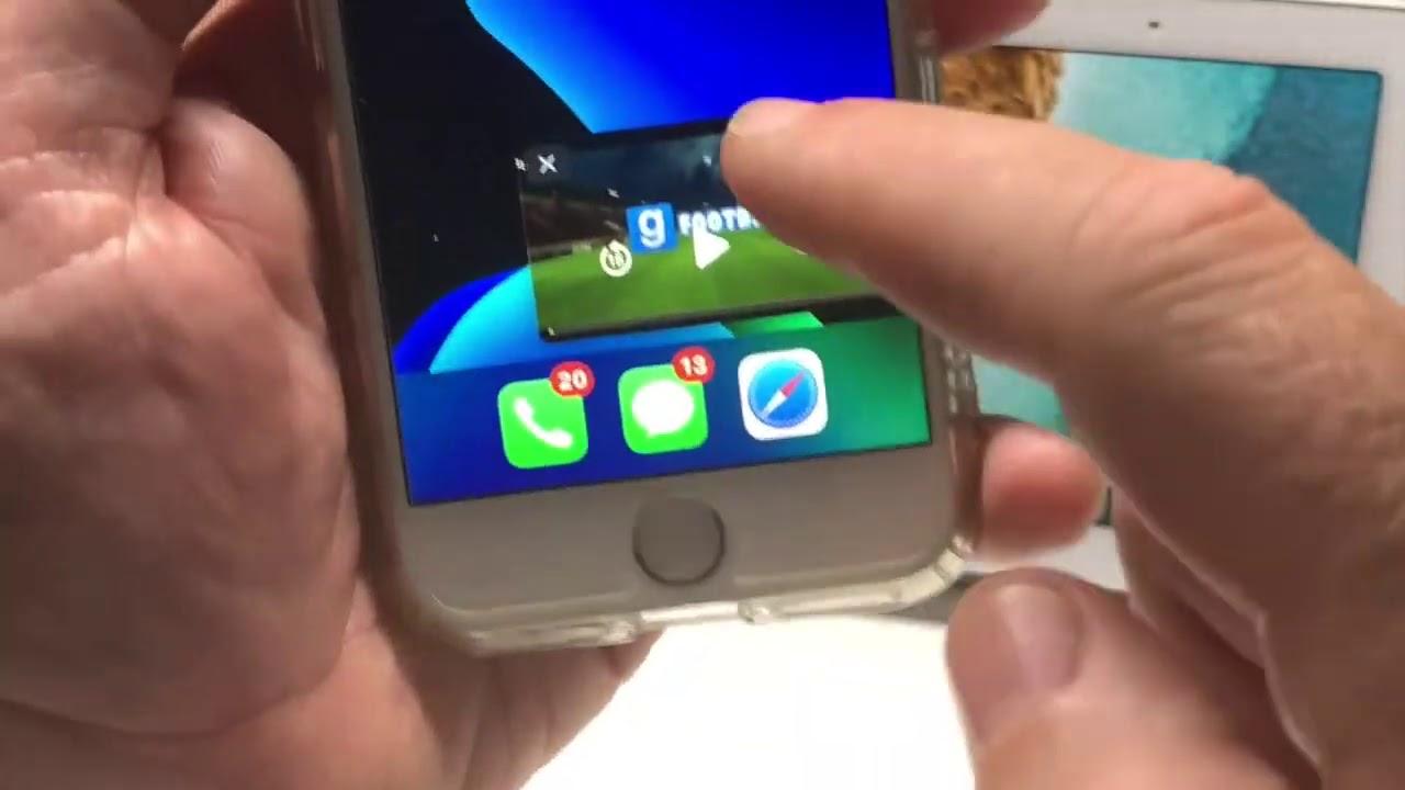 Nouveauté iOS 14 IDI: comment utiliser le mode «Image dans l'image»sur iPhone 6S,iPhone 7, iPho