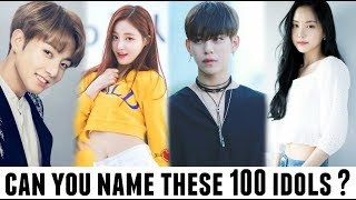 HOW WELL DO YOU KNOW KPOP ? Can you name these 100 idols